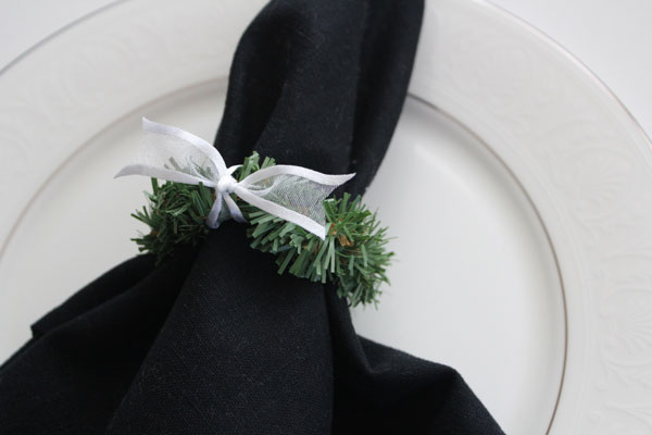 finished napkin ring