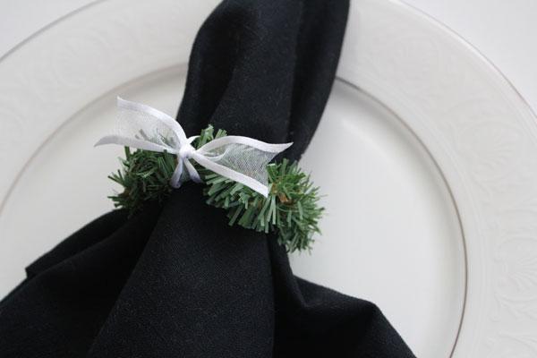 finished napkin ring