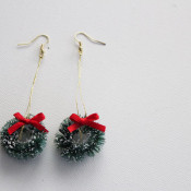 finished wreath earrings