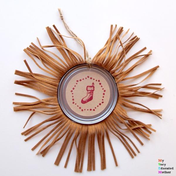 fringed juice lid ornament