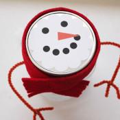 simple snowman mason jar for gift giving