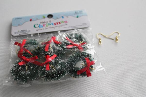 supplies for wreath earrings