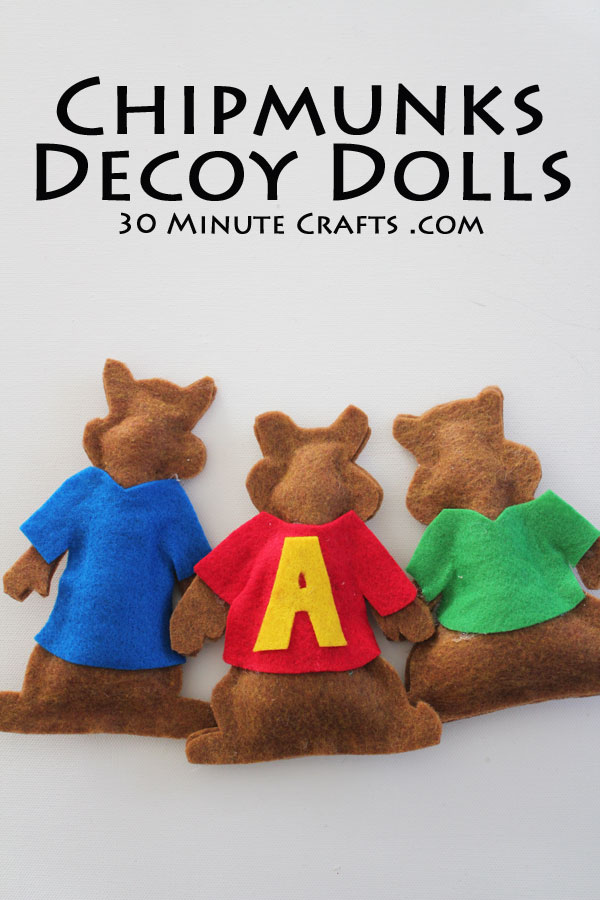 Chipmunks Decoy Dolls