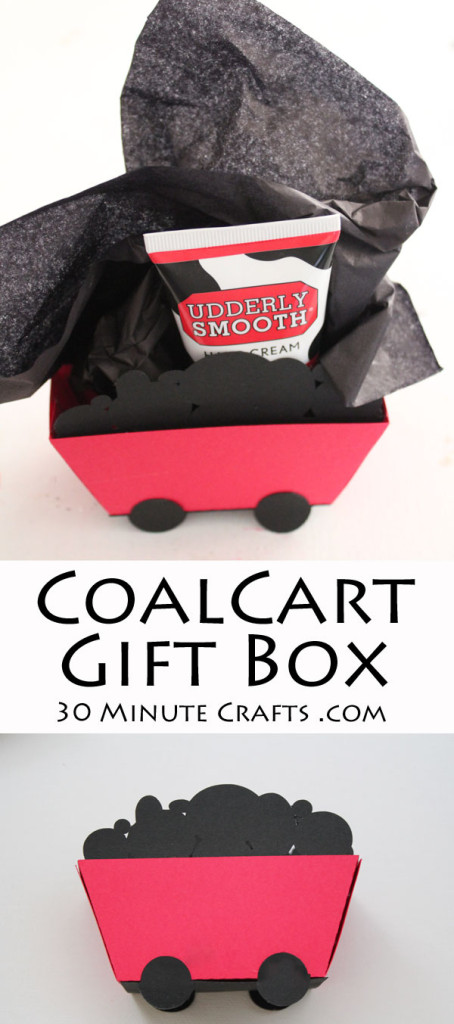 Coal Cart Gift Box - Printable template or cut it with your Silhouette... perfect for gift giving for all the naughty people in your life!
