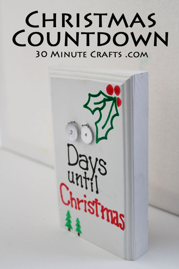 DIY Christmas Countdown Calendar - help kids count down the days until Christmas!