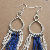 DIY Fringe Earrings - make these fun and easy earrings in about 15 minutes!