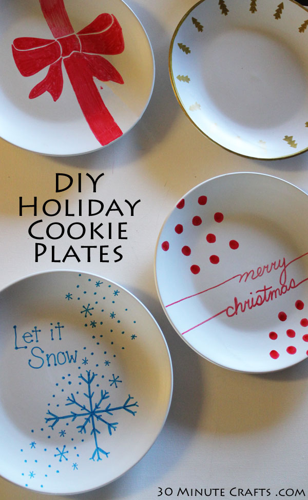 & Make your own Cookie Exchange Plates - 30 Minute Crafts