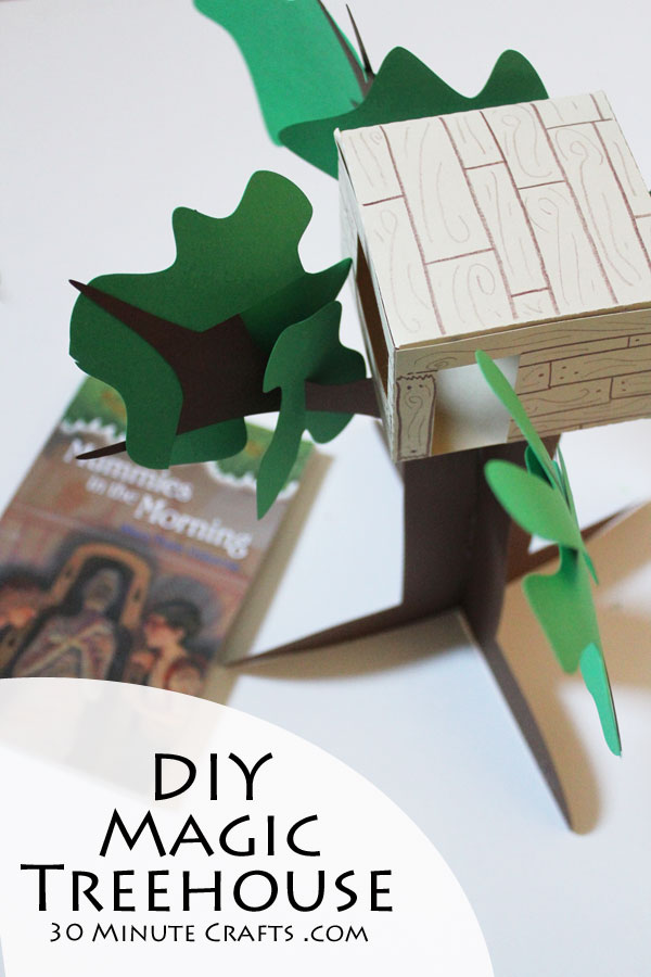 DIY Magic Treehouse Craft - 3D Paper Magic Treehouse Model
