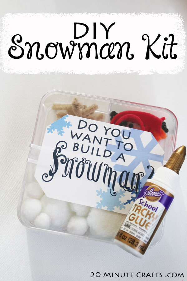 DIY Snowman Kit - no matter what climate you live in, you can give the gift of snowmen this winter!