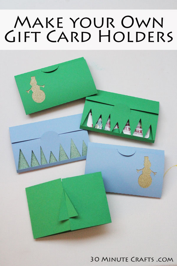 Make your own gift card holders