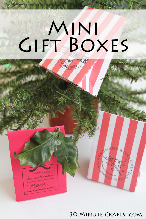 Make your own mini gift box - comes together quickly, and great for favors or gift giving!