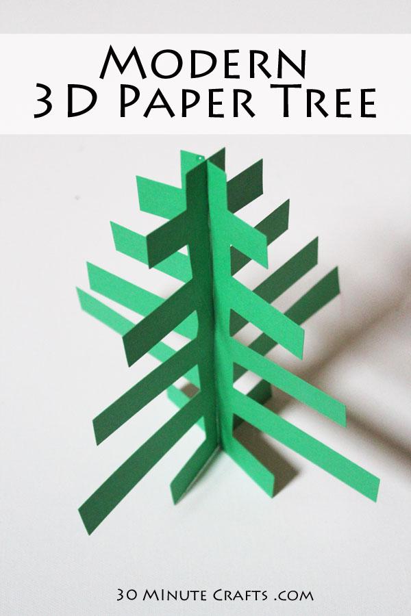 Modern 3D Paper Tree