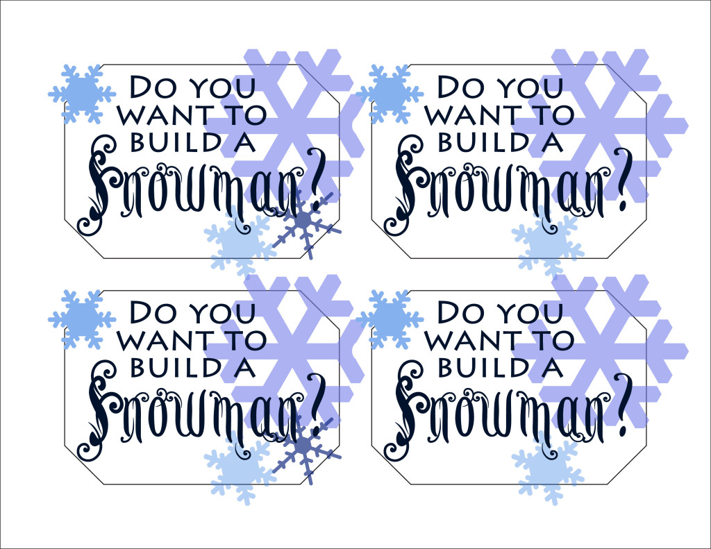 Build a snowman label