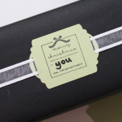 custom stamp on gift tag