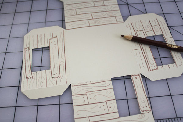 draw in all the wood details