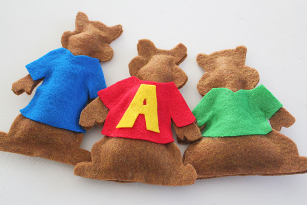 finished chipmunks dolls