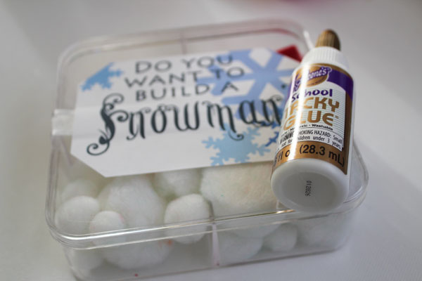 finished snowman kit