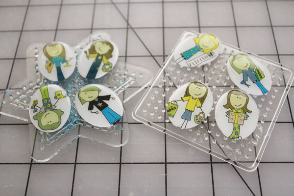 resin on charms