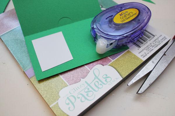 secure glitter paper