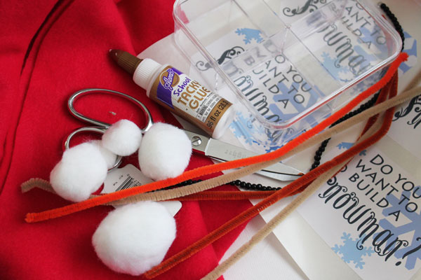 supplies for snowman kit