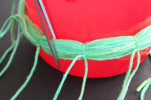 trim between knots