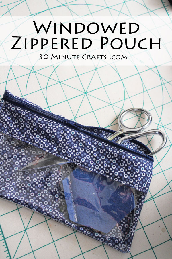 Windowed Zippered Pouch