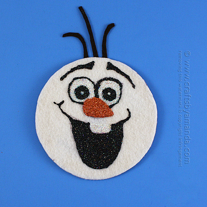 CD Olaf craft from Crafts by Amanda