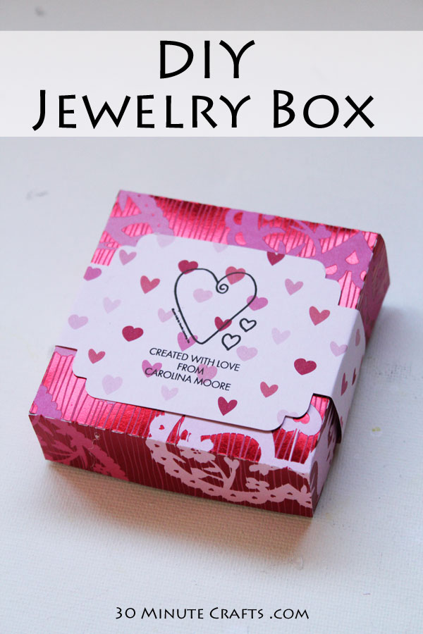 DIY Jewelry Box - Free Cut File you can use to make this earring box