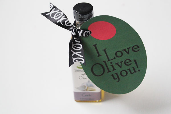 olive oil printable valentine tag