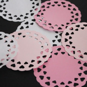 cut out doilies on the silhouette
