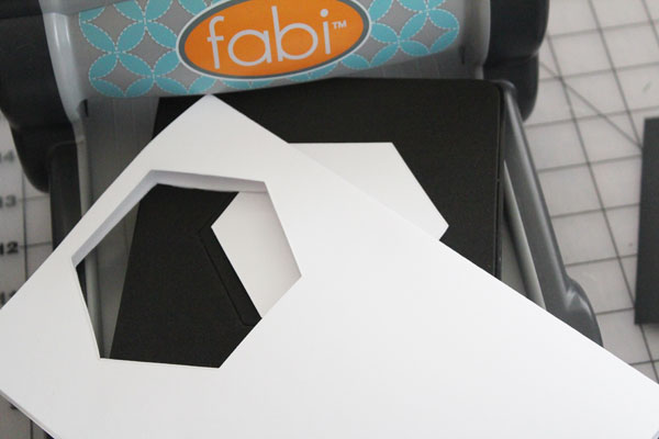 cut out paper hexagons