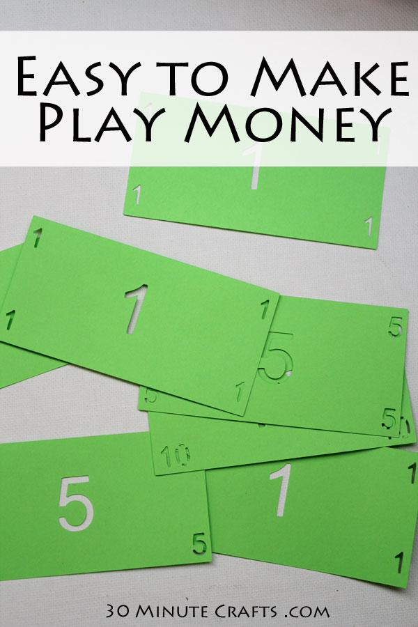 easy to make play money - kids will love playing with these bills!