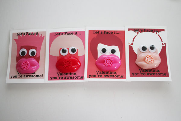 finished face valentines