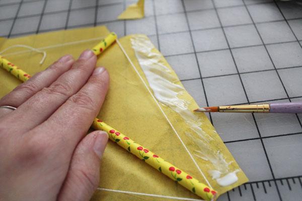 glue down flap
