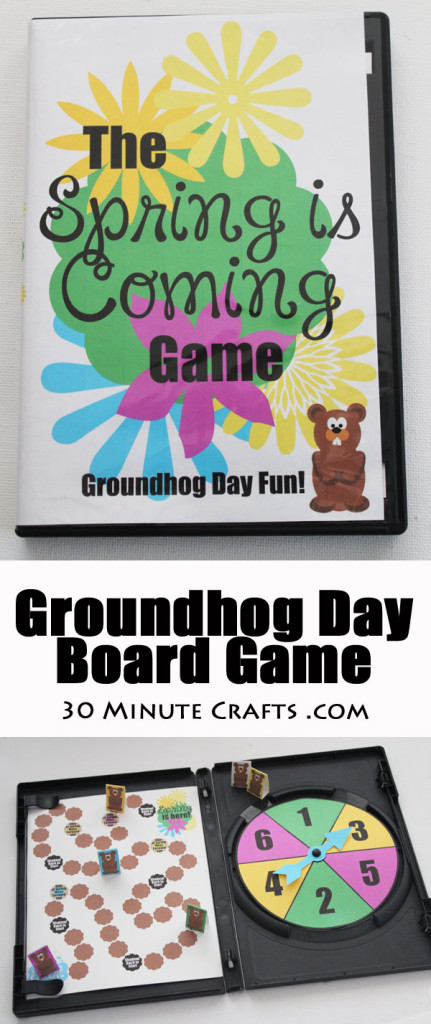 Groundhog Day Board Game - Spring is Coming! Fits into a standard-size DVD case for easy storage!