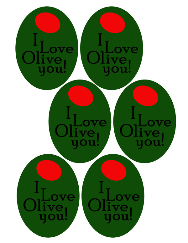 I love olive you printable tags