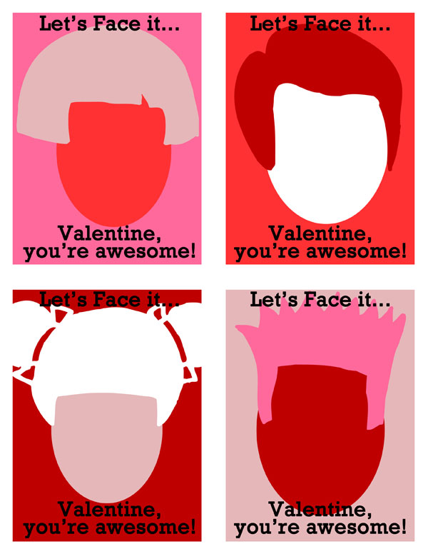 let's face it printable valentine
