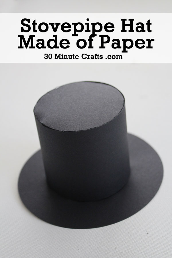 Abraham Lincoln Craft - Stovepipe hat made of paper