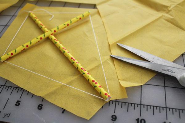 trim tissue paper