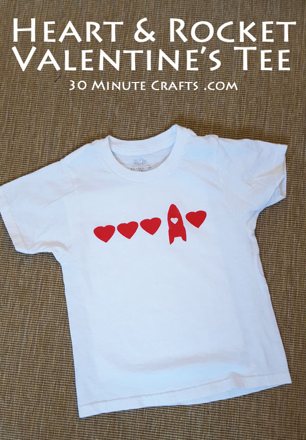 Heart and Rocket Valentine's Tee