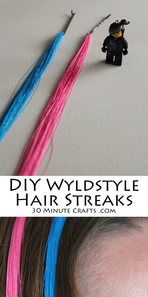 Make DIY Wyldstyle Hair Streaks