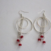completed hoop and dangle earrings