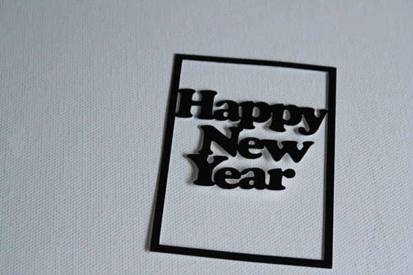 cut out happy new year