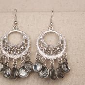 finished bling earrings