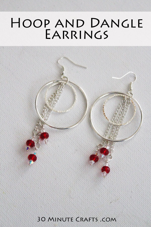 Hoop And Dangle Earrings Super Fast Simple To Make
