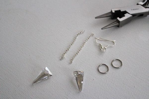 supplies for arrowhead earrings