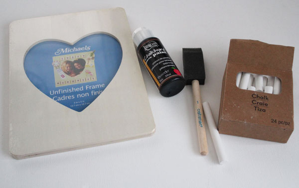 supplies for chalkboard frame