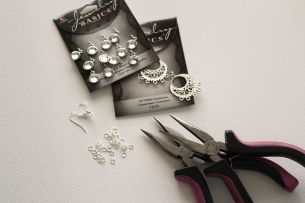 supplies for sparkle earrings