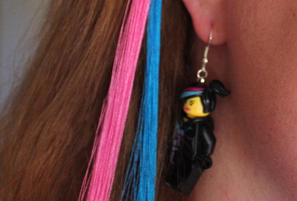 wear your earrings with the DIY WyldStyle Hair Streaks