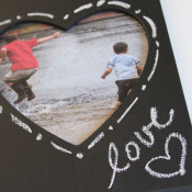 write on frame with chalk